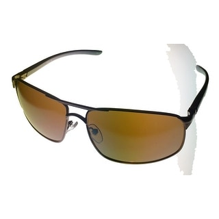 Timberland TB7115 48G Men's Rectangle Dark Brown Metal Sunglasses - Medium