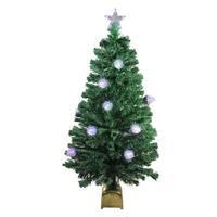 4' Pre-Lit Fiber Optic Pine Cone Artificial Christmas Tree - LED Multi Lights - green