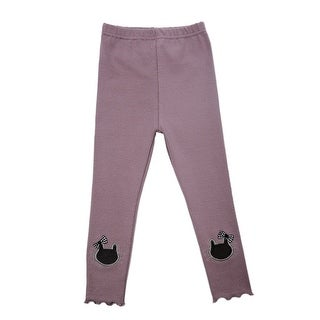 TG2627 Girl's Cotton Trousers Spring Autumn Pants Warm and Soft Purple