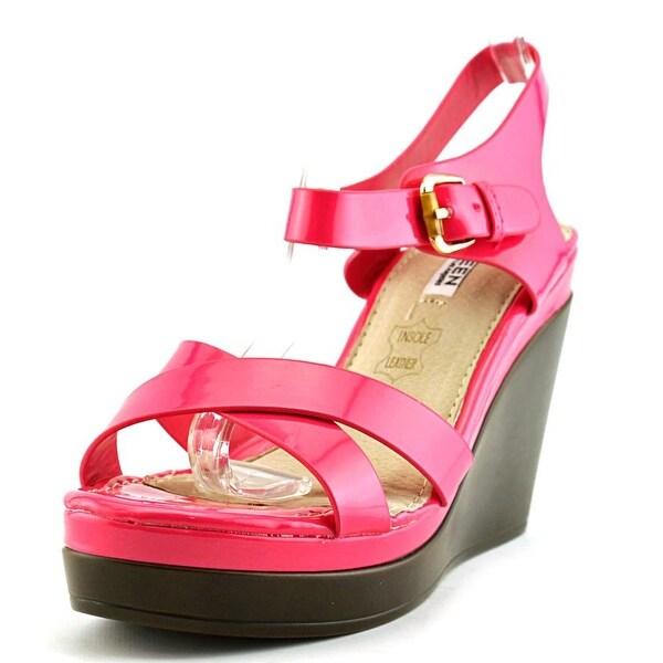 Kayleen by Los Angeles Danuta-2 Women Open Toe Synthetic Pink Wedge Sandal