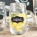 Palais Glassware Mason Jar Tumbler Mug with Handle - 16 Ounces - Set of 4 (Chalk It Up W/Chalk) - Thumbnail 0