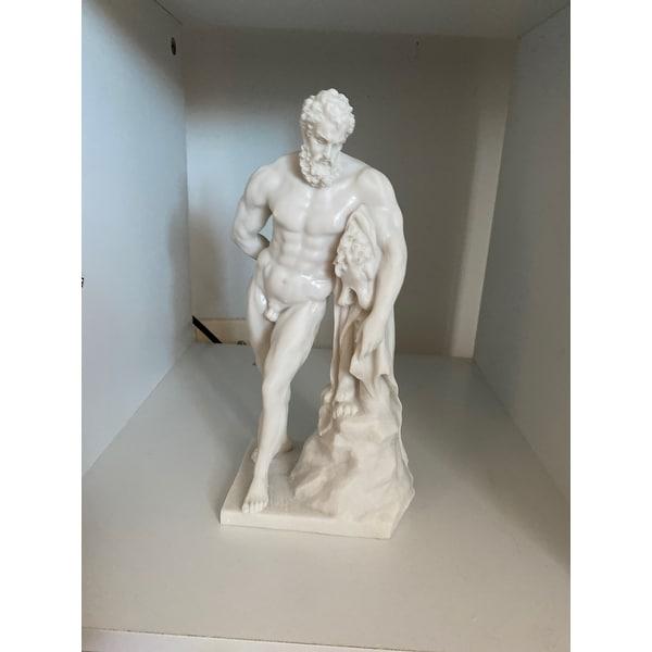 Design Toscano Farnese Hercules Bonded Marble Statue