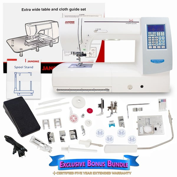 Janome Memory Craft Horizon 8200QCP Special Edition W/ Bundle
