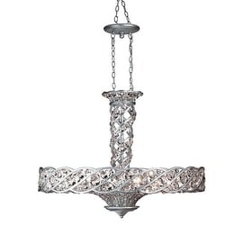 Eurofase Lighting 17470 Six Light Down Lighting Pendant from the Catara Collection - aged silver