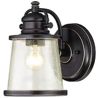Westinghouse 6204000 Emma Jane Outdoor Wall Sconce with 1-Light with Clear Seeded Glass - Amber Bronze - N/A