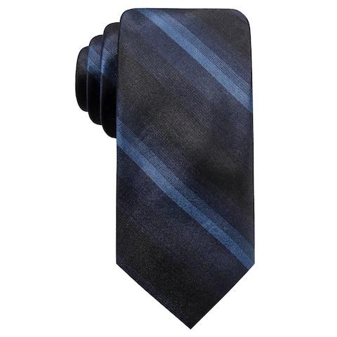 Ryan Seacrest Distinction Men's Leigh Slim Ombre Stripe Silk Tie Navy Size Regular