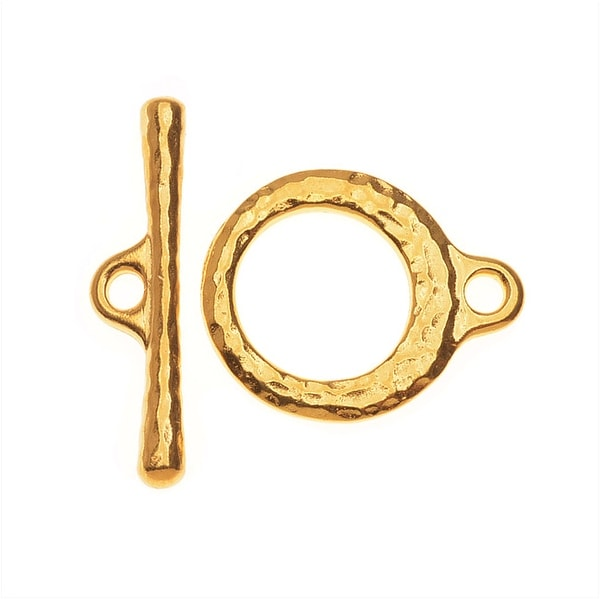 TierraCast Maker's Collection, Craftsman Toggle Clasp Set, 22K Gold Plated