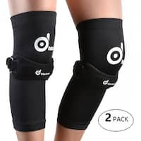 ODOLAND 2 Pack Copper Compression Knee Sleeve & Patellar Knee Strap