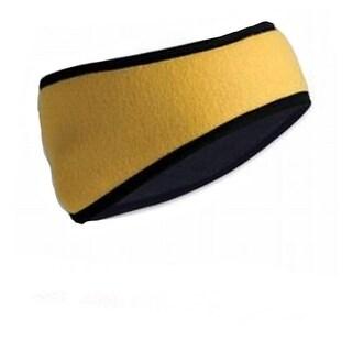 Polar Fleece Headband, Yellow - one size