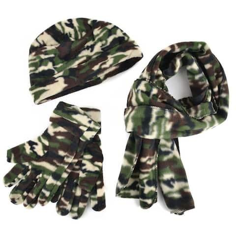 Green Army Camouflage Fatigue Fleece Winter Set WNTSET1000 - Regular