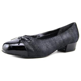 Ros Hommerson Tawnie Women W Round Toe Leather Black Heels