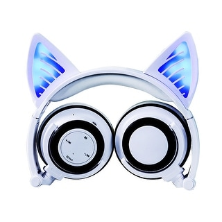 TechComm K10 Cat Ear Bluetooth LED Headphones for Music and Hands-Free Calls