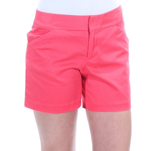 Womens Coral Casual Short Size 2XS