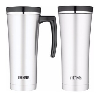 Thermos S/S Vacuum Insulated 16oz Travel Mug and Sipp Traveling Tumbler Bundle