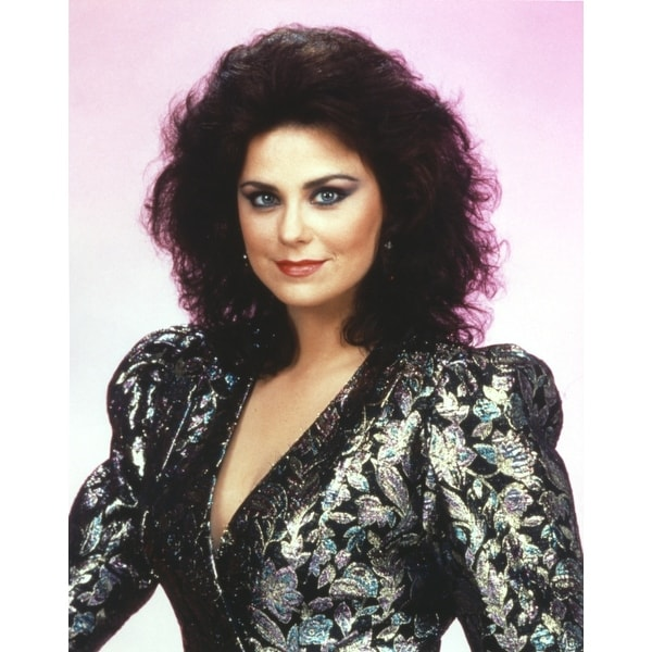 dd09f928fef4 Shop Delta Burke smiling in Black Glitter Dress Portrait Photo Print - Free  Shipping On Orders Over $45 - Overstock - 25373382