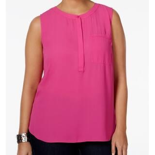 NYDJ NEW Pink Rasberry Women's Size 3X Plus Chiffon Pocket Top Blouse|https://ak1.ostkcdn.com/images/products/is/images/direct/0c24f8380b672dc9d1dd5d1541efbafa4af40124/NYDJ-NEW-Pink-Rasberry-Women%27s-Size-3X-Plus-Chiffon-Pocket-Top-Blouse.jpg?impolicy=medium