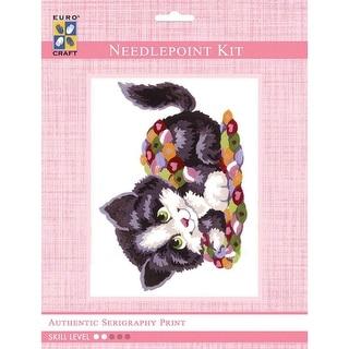 """Needleart World Tapestry Kit 8""""X10""""-Patchwork Kitten"""