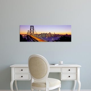 Easy Art Prints Panoramic Images's 'Sunset San Francisco CA USA' Premium Canvas Art