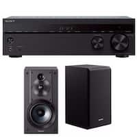 Sony STRDH590 5.2ch Home Theater AV Receiver with Sony Bookshelf Speaker Bundle