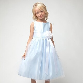 Sweet Kids Baby Girl 18M Light Blue Tulle Special Occasion Dress