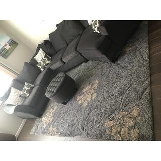Safavieh Florida Shag Grey / Beige Area Rug (8' x 10')