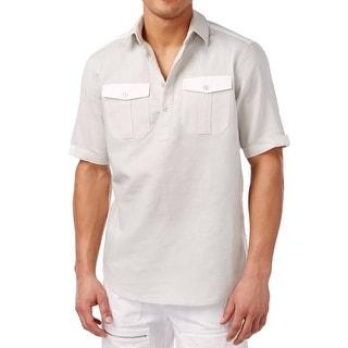 Sean John NEW Gray Platinum Mens Size 3XL Classic Fit Knit Polo Shirt