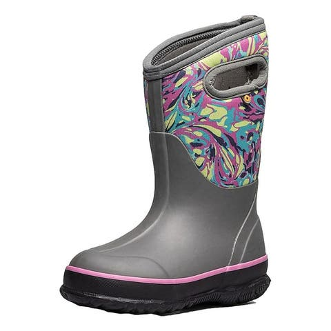 Bogs Outdoor Boots Girls Classic Winter Marble WP Insulated