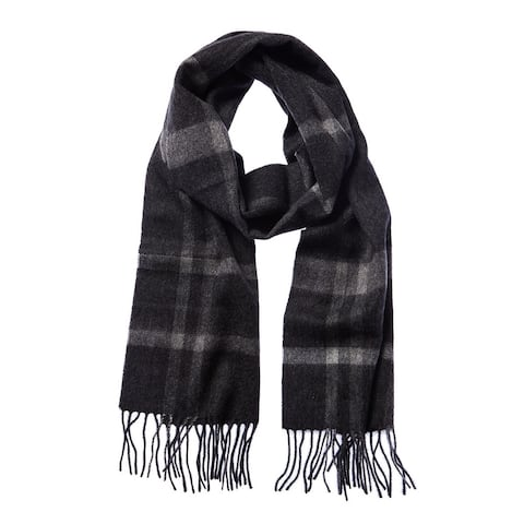 Qi 3 Color Plaid Cashmere Scarf - GREY-TW1744-TW1740 - NoSize