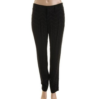 Catherine Malandrino Womens Crepe Cut-Out Casual Pants