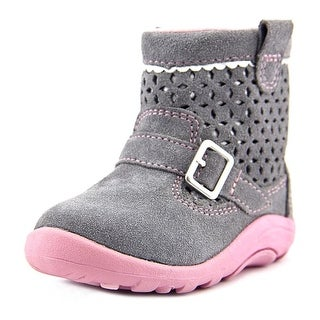 Stride Rite Kinsey Youth Round Toe Leather Gray Bootie