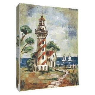 """PTM Images 9-154854  PTM Canvas Collection 10"""" x 8"""" - """"Path to the Lighthouse I"""" Giclee Lighthouses Art Print on Canvas"""