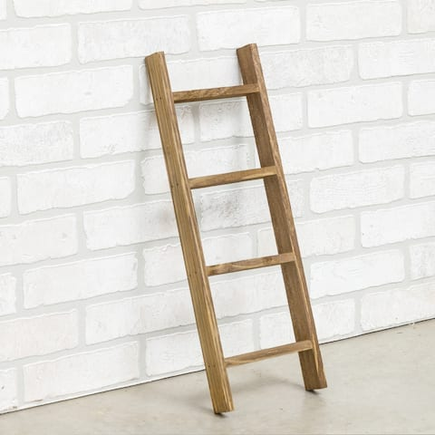 """Caspia Handmade 20"""" Decorative Leaning Accent Blanket Ladder Rack - 20 inches Wide"""