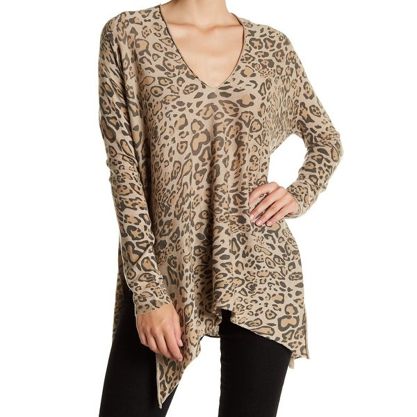 cb7079677a0 Shop RDI NEW Beige Women's Size Large L Animal Print Asymmetric Tunic Top -  Free Shipping Today - Overstock - 21281450