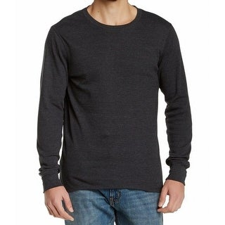 NORDSTROM RACK NEW Gray Mens Size XL Solid Crewneck Thermal Tee Shirt