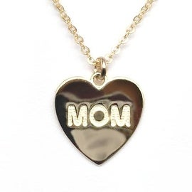 "Julieta Jewelry Mom Heart Gold Charm 16"" Necklace"