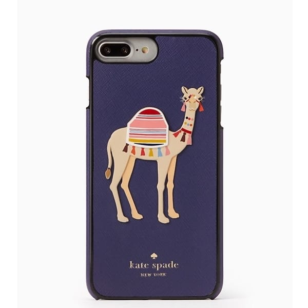 huge discount 18940 b7c8d Kate Spade New York Camel Applique Leather Snap Case For iPhone 8 Plus &  iPhone 7 Plus