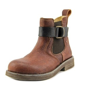 Momino 16999 Youth Round Toe Leather Brown Boot