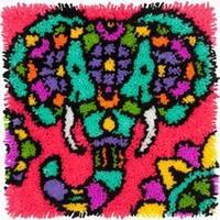 "Elephant - Colorful Latch Hook Kit 16""X16"""