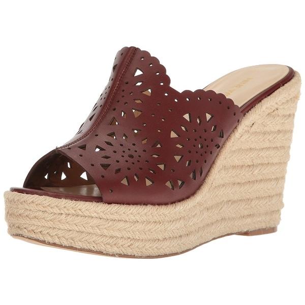 Nine West Womens derek Leather Open Toe Casual Platform Sandals