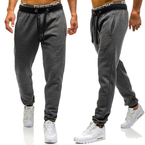 Jogger Pants Casual Fitted Cotton Jogging Trouser