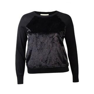 MICHAEL Michael Kors Women's Faux Fur Raglan Sweater