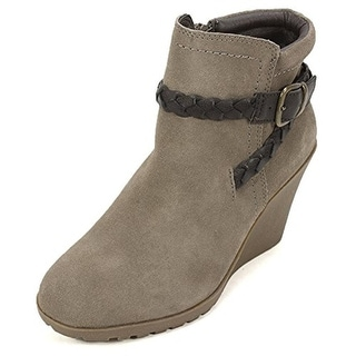 White Mountain Womens Isabella Wedge Boots Suede Ankle - 7 medium (b,m)