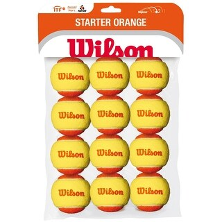 Wilson Starter Low Compression Orange Tennis Balls (48 Pack)