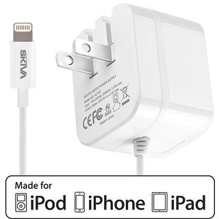 iPhone X Charger, Skiva PowerFlow 2.4-Amps 12W AC Wall Foldable Plug Charger for iPhone X / 8 / 8 plus / 7 7+, iPad Pro Air