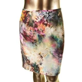 Karen Kane Womens Avant Garden Crepe Floral Print Pencil Skirt