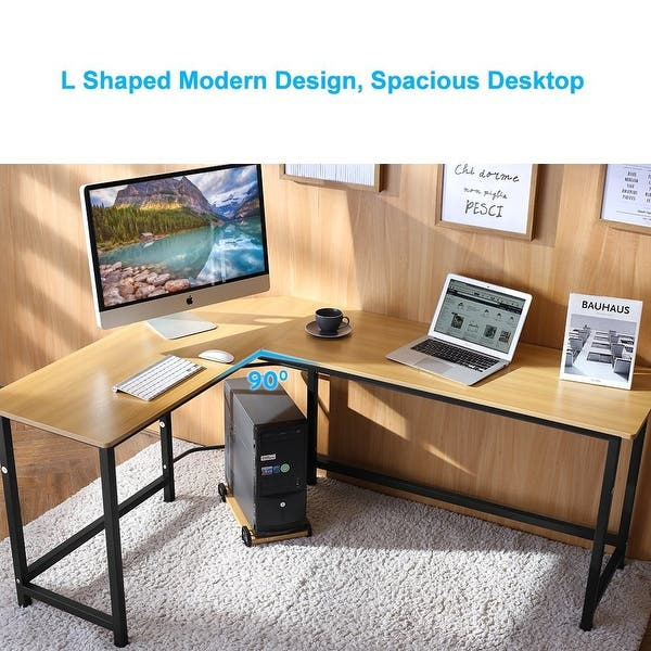 Shop Tribesigns Modern L-Shaped Desk Corner Computer Desk ...