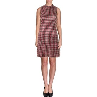 Sanctuary Womens Sleeveless Stand Collar Wear to Work Dress