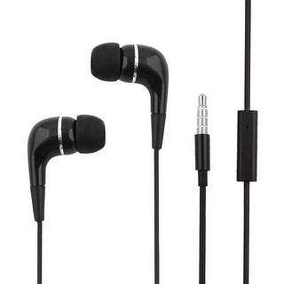 Unique BargainsSmartphone 3.5mm Stereo In-ear Earphones Headphones Earbuds Black 3.9Ft Length