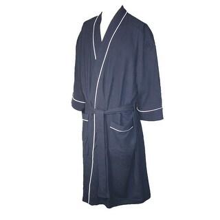 Majestic International Men's Waffle Knit Kimono Robe