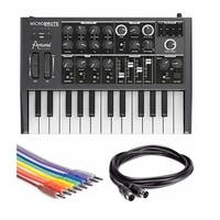 Arturia MicroBrute Analog Synthesizer Bundle with Cables